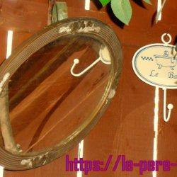 miroir ovale vieux à reprendre atelier