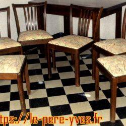 chaises tapissées 6