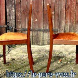 chaises tapissées ocre roux coté