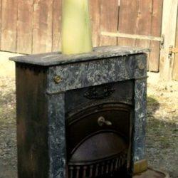 cheminée pansier avec pare braison et tuyau