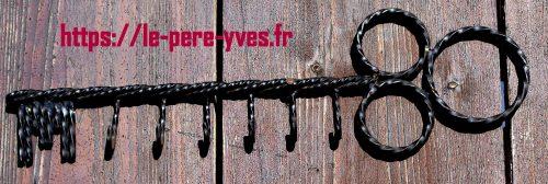 clef porte clefs fer forgé atelier