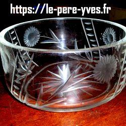compotier gros verre coté