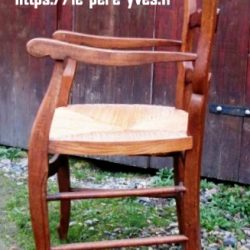 fauteuil louis xv paillé coté