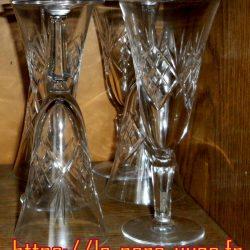 flutes à champagne cristal ciselé étagère