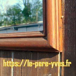 miroir rectangulaire bois relief détail