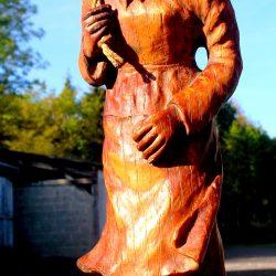 statuette belle des bois biais avant droit