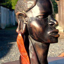statuette buste africain mm biais droit