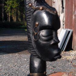 statuette buste africaine gm noir biais droite