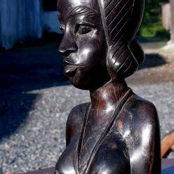 statuette buste africaine mm biais gauche