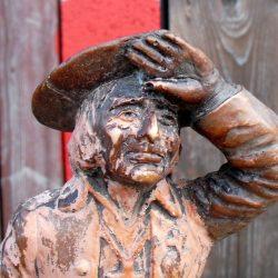 statuette chouan face détail