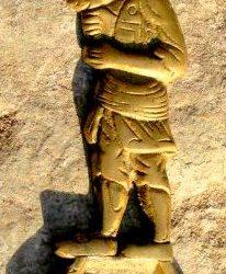 statuette karagoz à plat