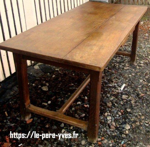 table de ferme à tiroir