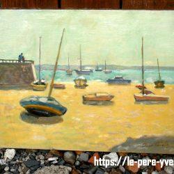 tableau bateaux roger bernard de loin