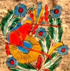 tableau fleurs de nénuphars de loin