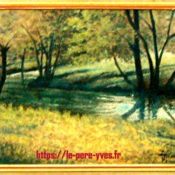 tableau georget rivière boisée de près