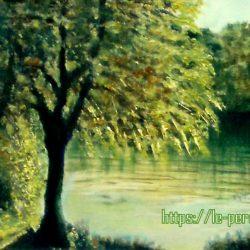tableau georget rivière ombragée de près