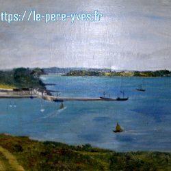 tableau mer et bateaux de près