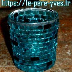 verre bleu photophore