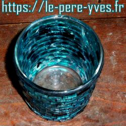 verre bleu photophore avion