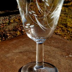verres à vin blanc du printemps coté