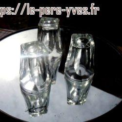 vieux verres trio plateau dessous